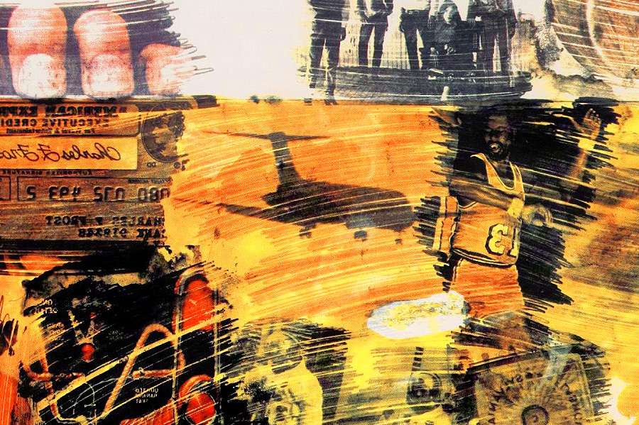 Robert Rauschenberg - Yellow Body  (Detail with Airplane)